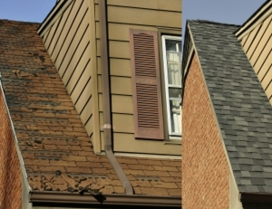 St. Louis Roof in need of shingle repair